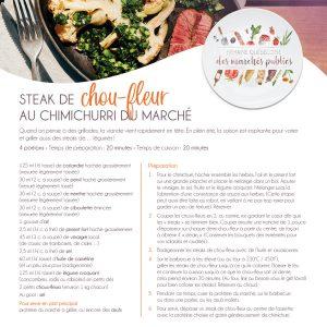Fiche recette | Steak de choux-fleurs